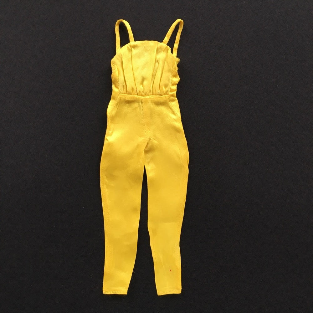 Mattel Barbie Pretty Changes 1978 yellow satin jumpsuit 2598 fits 12