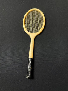 "Barbie Tennis Anyone racket 1962 with real strings Mattel 941 fits 12"" doll"