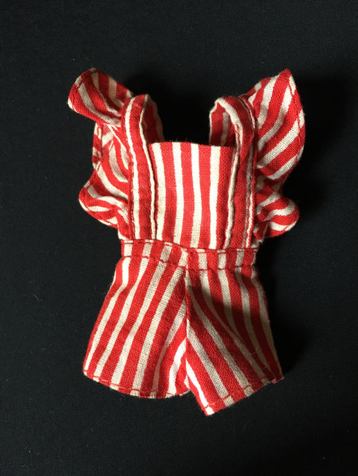 Daisy Peppermint Rock 1973 playsuit red white stripe Mary Quant  fit 9