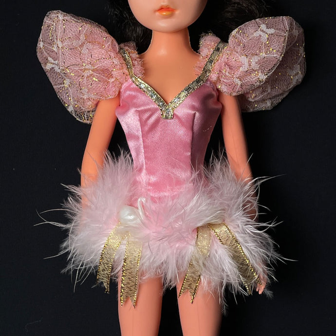 Sindy Dream Ballet top 1992 pink swan bodice Hasbro 8129 fit 12