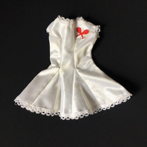 "Faerie Glen white nylon tennis dress with red rackets 11"" 12"" doll clothes"