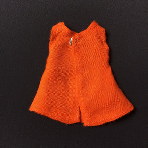 "Miniature Sindy Day Girl dress orange fit Sarah Louise Judy 6"" doll"