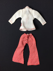 "MEGO Dinah Mite Blazer Days 1411 white jacket red trousers set fit 8"" doll"