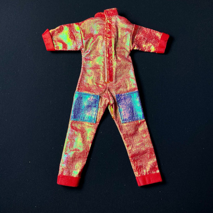 Starlight Sindy play suit 1986 red iridescent jumpsuit fit 12