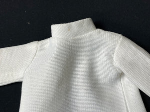 "Sindy Paris Mode top 1978 Pedigree 44311 white turtle neck with cuffs fit 12"" doll"