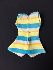 Sindy Funtime swimsuit 1973 Pedigree S676 rare colour stripe doll costume