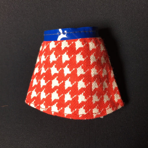 "Barbie Growing Up Skipper 1975 red white houndstooth mini skirt Mattel 7259 fit 9"" doll 1:6"