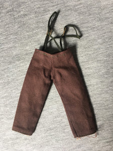 1974 MEGO Waltons - Pa - brown trousers with braces fit 8 inch doll