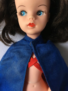 Pedigree Sindy Nurse 1978 Royal blue red lined cape cloak 44685