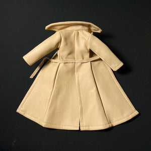 "Sindy Summer Showers coat 1976 beige leatherette 44280 fit 12"" fashion doll"