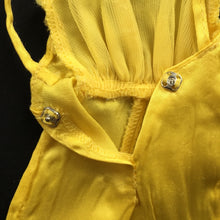 "Load image into Gallery viewer, Mattel Barbie Pretty Changes 1978 yellow satin jumpsuit 2598 fits 12"" doll"