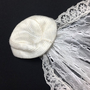 "Sindy Beautiful Bride veil 1977 hat net lace train 44308 fit 12"" doll"