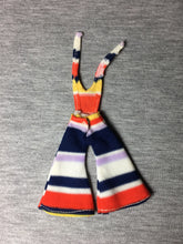 "Load image into Gallery viewer, Palitoy Pippa friend Marie stripe jumpsuit flared trousers fit 6"" doll"