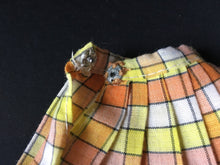 Load image into Gallery viewer, Pedigree Sindy Lovely Lively 1975 yellow orange check skirt 44608