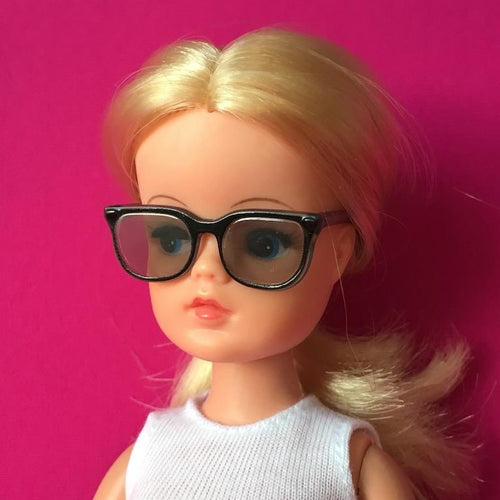 Creatable World glasses spectacles with black square frames - fit Sindy