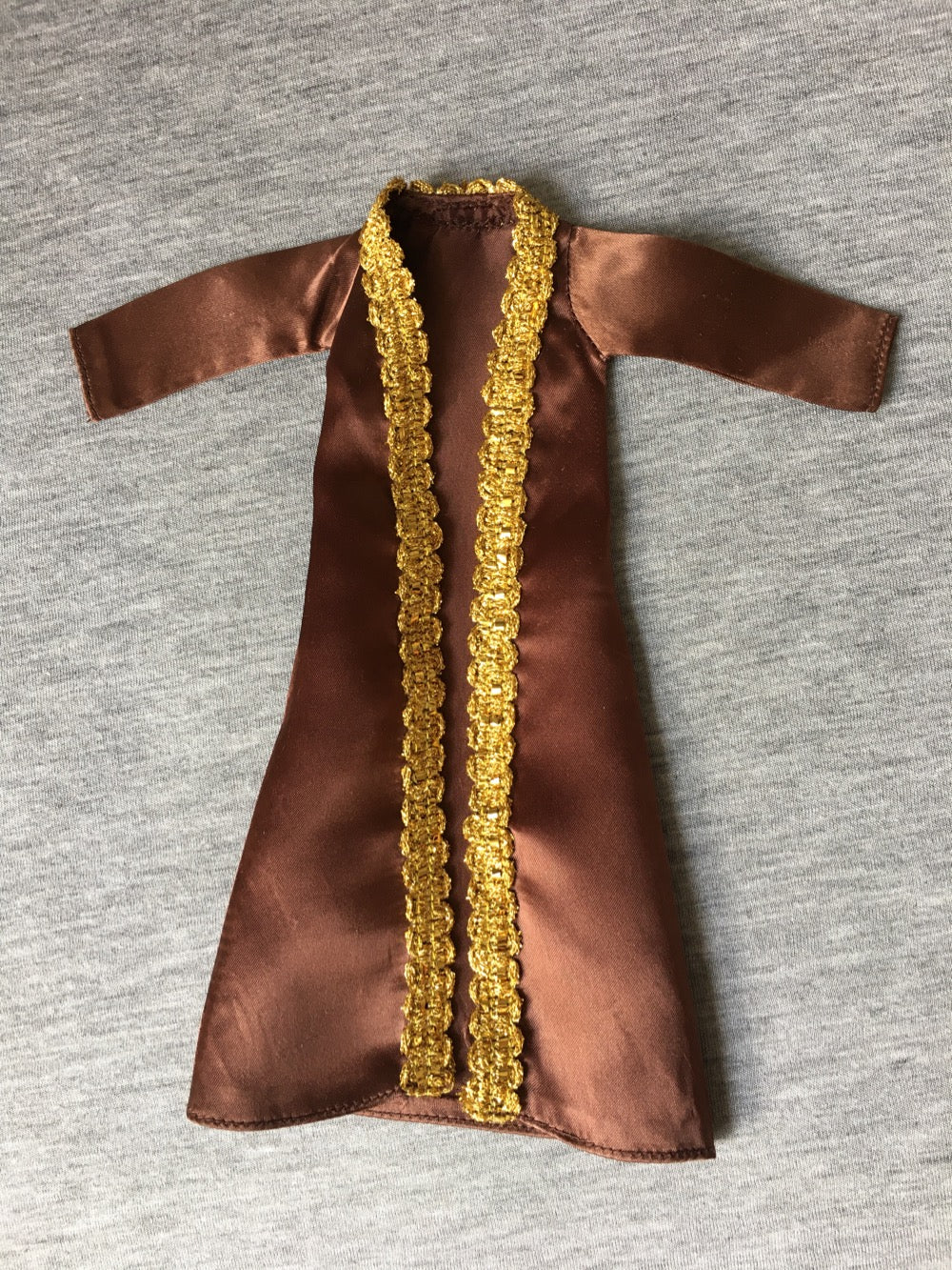 Sindy Night Spot coat 1977 brown satin gold brocade Pedigree 44305
