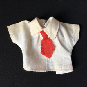 "Denys Fisher Jennie school blouse 1977 with red tie fit 9"" doll clothes"