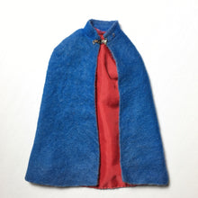 "Load image into Gallery viewer, Vintage Palitoy Action Girl ""Nurse"" blue cape cloak red lining fit 12"" Sindy"