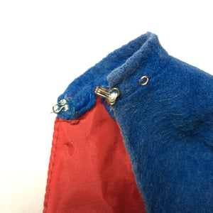 "Vintage Palitoy Action Girl ""Nurse"" blue cape cloak red lining fit 12"" Sindy"