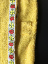 Load image into Gallery viewer, Sindy Winter Nights robe 1979 Pedigree 44320 yellow towelling floral braid