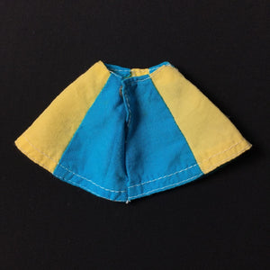 Pedigree Sindy skirt 1973 Blue Yellow Panel knee length