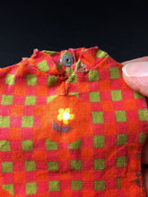 "Load image into Gallery viewer, Sindy Summery Days dress 1963 orange spares and parts 12S55 fit 11"" doll"