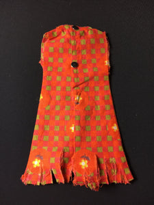 "Sindy Summery Days dress 1963 orange spares and parts 12S55 fit 11"" doll"