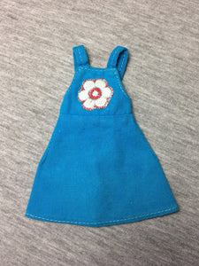 "Pedigree Sindy ""Ship Ahoy"" dress 1974 embroidery flower S606 fit 12"" doll"