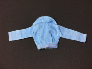 "Pedigree Sindy ""Denim Double"" 1977 jacket red stitch 44290"
