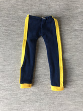 Load image into Gallery viewer, Keep Fit Sindy 1979 blue tracksuit bottoms yellow stripe 44687