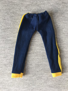 Keep Fit Sindy 1979 blue tracksuit bottoms yellow stripe 44687