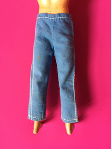 "Action Man Adventurer trousers 1970 blue Palitoy 34012 fit 12"" doll"