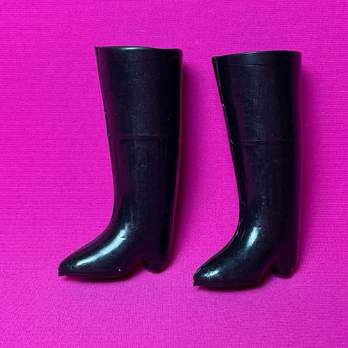 Sindy Town & Country boots 1968 Pedigree 12S31 black knee high doll shoes