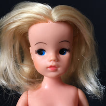Load image into Gallery viewer, Sad face Sindy doll hard head basic Pedigree 1980s long blonde hair