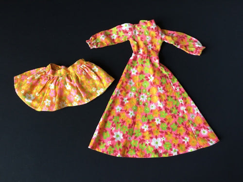 Sindy Pinny Party 1973 Pedigree S208 flower power dress scale 1:6