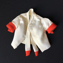 Load image into Gallery viewer, Dusty British Airways Stewardess cream blouse red trim neck tie 1976