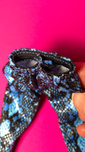 "Load image into Gallery viewer, Creatable World blue snakeskin print leggings and glitter jacket fit 10"" 11"" doll"