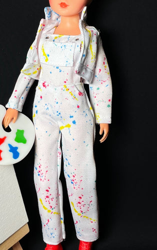 Creatable World splatter paint dungarees and jacket fit 10