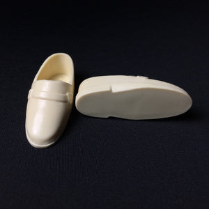 Cream Ken doll shoes Vintage Mod 1970s era 4cm long