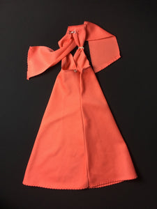 Bionic Woman dress Peach Dream 1977 orange halter neck with hearts