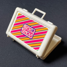 "Load image into Gallery viewer, Yuppie Rich and Famous briefcase + 1980s mobile phone fit 12"" doll scale 1:6"