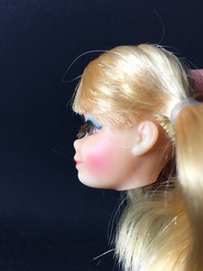 Vintage Mattel Barbie P.J doll head rooted lashes pigtail hair bunches spare part