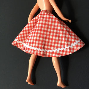 Palitoy Tressy Hair Grows 1979 red gingham check skirt 4th issue