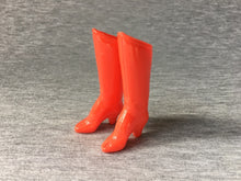 "Load image into Gallery viewer, MEGO 12.5"" Wonder Woman 1977 boots red high heel shiny finish"