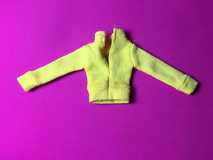 Sindy Pony Club top 1979 long sleeve yellow horse face shoe 44205