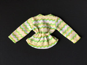 Palitoy Action Girl Belgravia Set Elizabeth zig zag pattern long sleeve top
