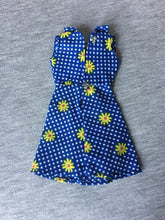 Load image into Gallery viewer, Palitoy Action Girl Belgravia Set Elizabeth sleeveless blue dress with yellow daisy