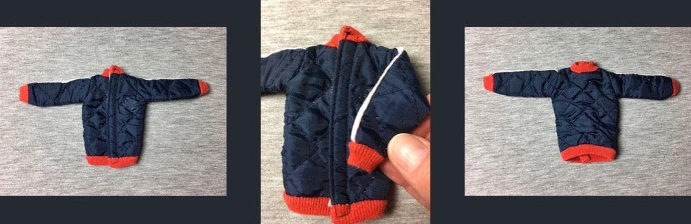 Sindy Winter Sports jacket 1978 blue quilt Pedigree 44428 fit 12