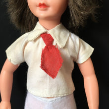 "Load image into Gallery viewer, Denys Fisher Jennie school blouse 1977 with red tie fit 9"" doll clothes"