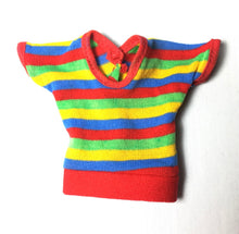 "Load image into Gallery viewer, Kenner Bionic Woman Casual Day 1976 multi colour stripe top fit 12.5"" doll"